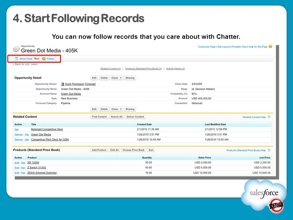 4. Start Following Records