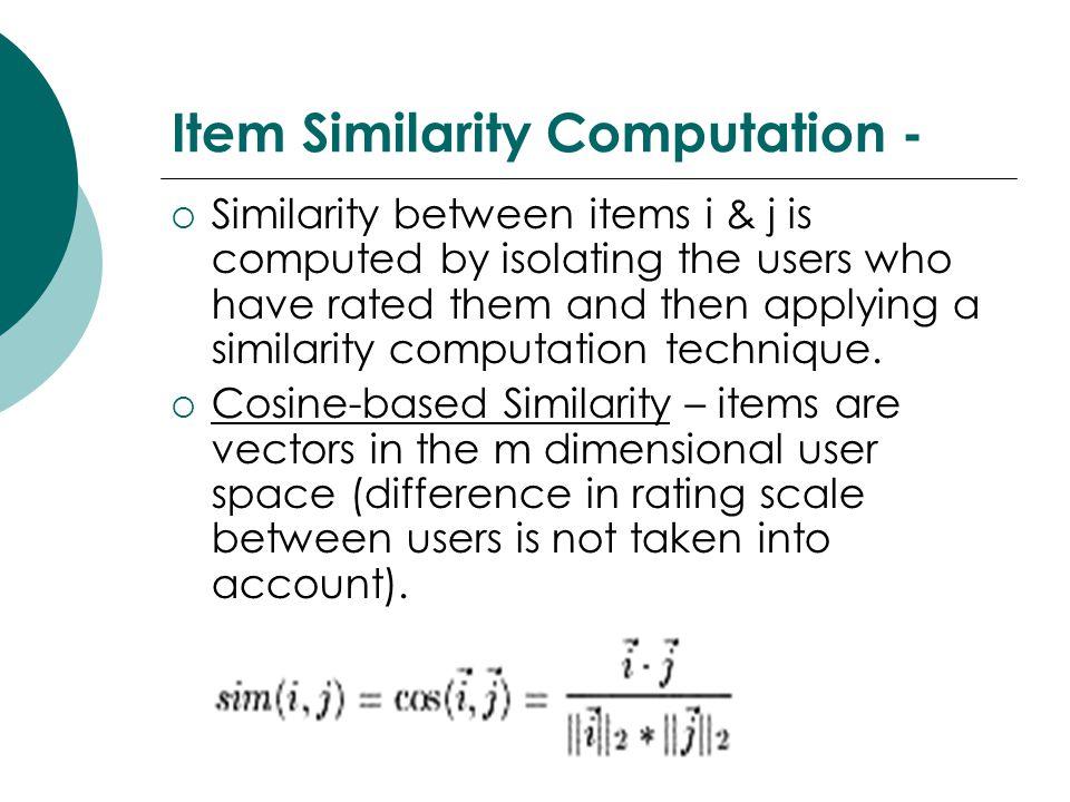 Item Similarity Computation -