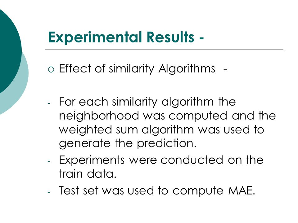 Experimental Results -