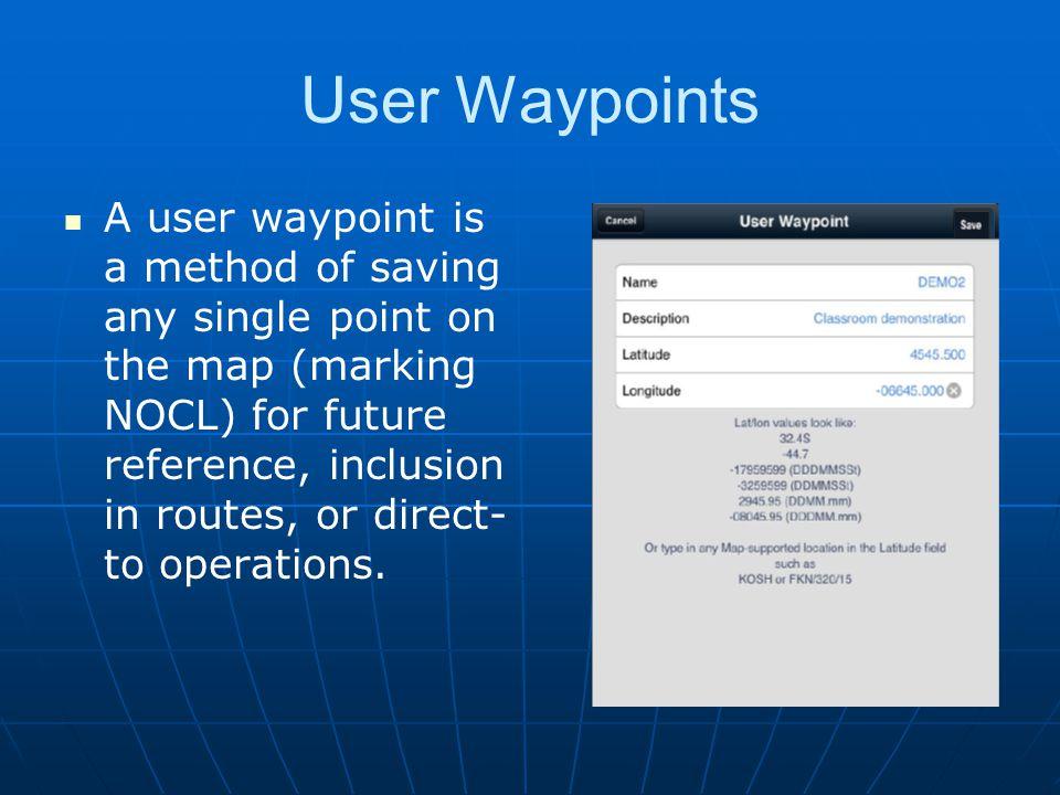 User Waypoints