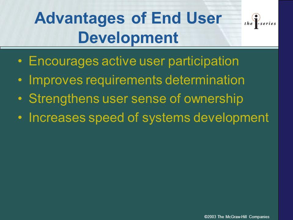 Advantages of End User Development