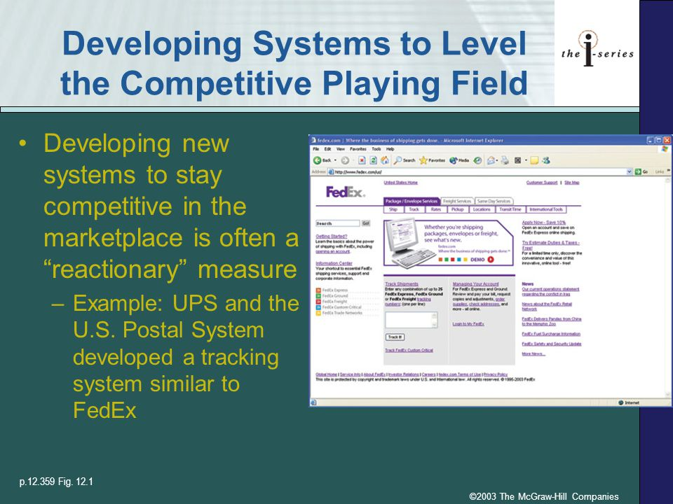 Developing Systems to Level the Competitive Playing Field
