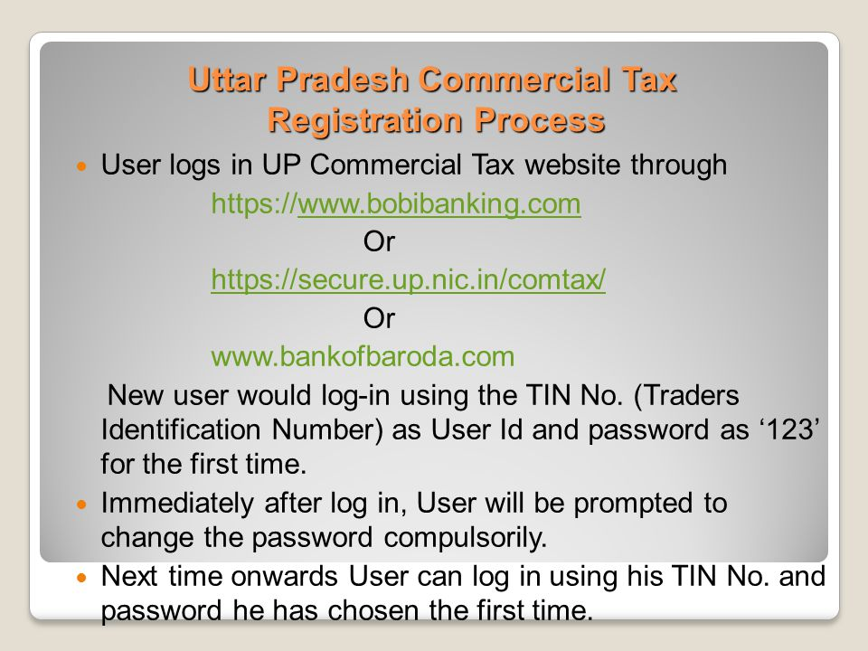 Uttar Pradesh Commercial Tax Registration Process