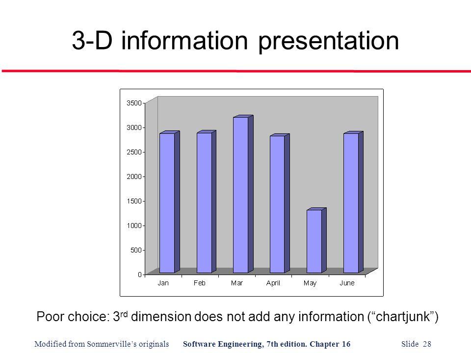 3-D information presentation