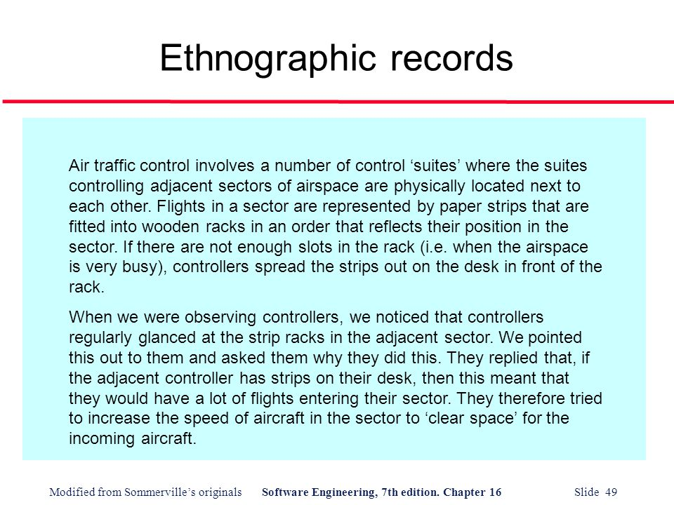 Ethnographic records