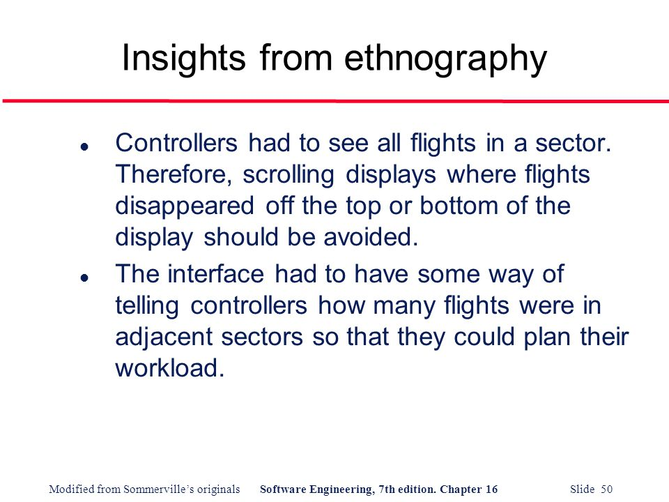 Insights from ethnography