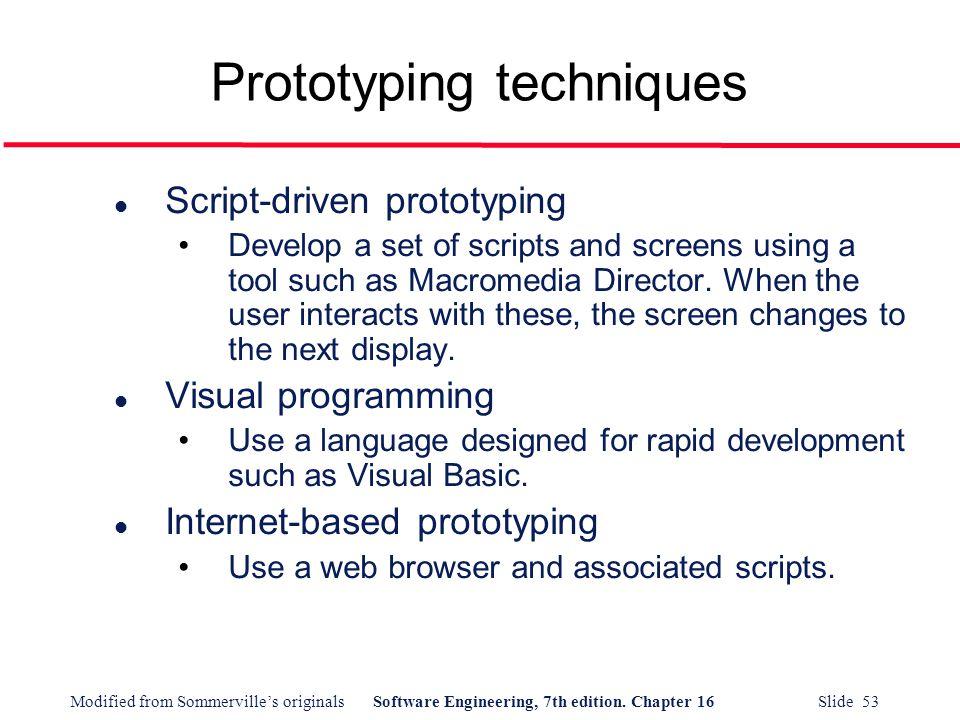 Prototyping techniques