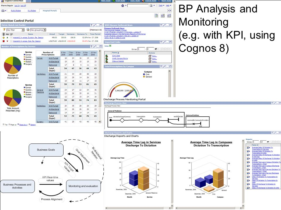 BP Analysis and Monitoring (e.g. with KPI, using Cognos 8)