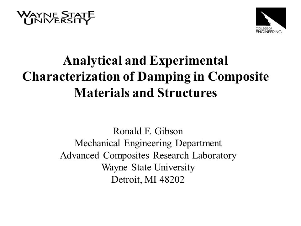 Analytical and Experimental Characterization of Damping in Composite Materials and Structures