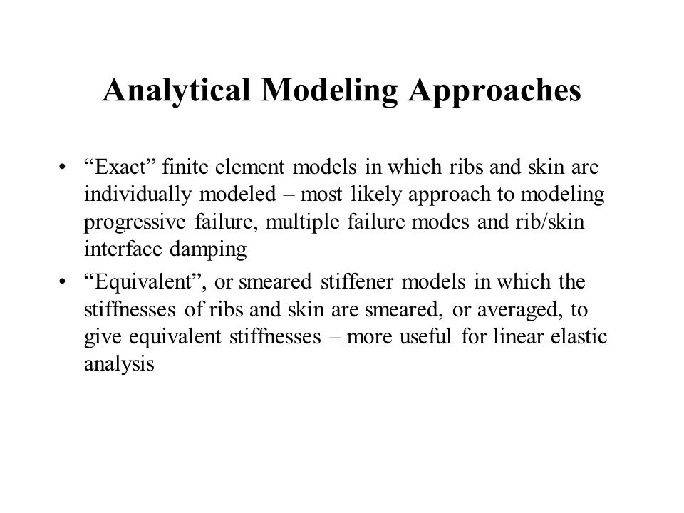Analytical Modeling Approaches