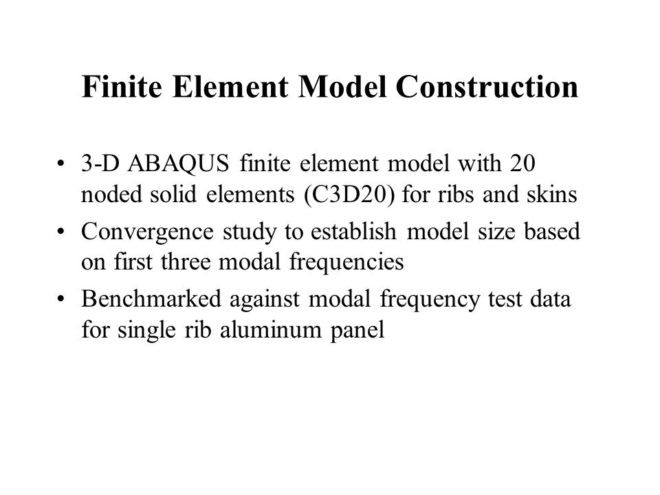 Finite Element Model Construction