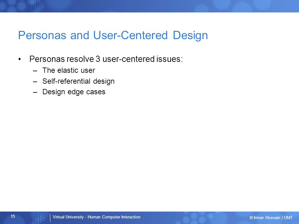 Personas and User-Centered Design