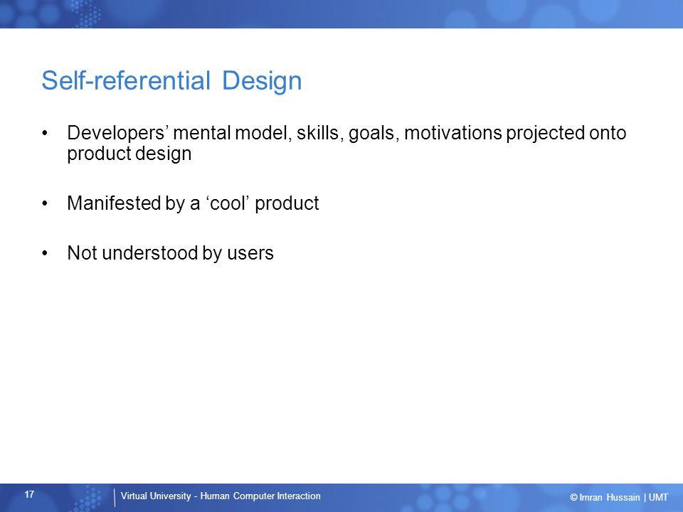 Self-referential Design