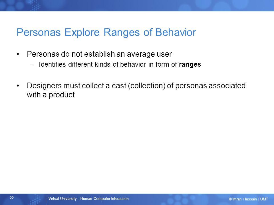 Personas Explore Ranges of Behavior