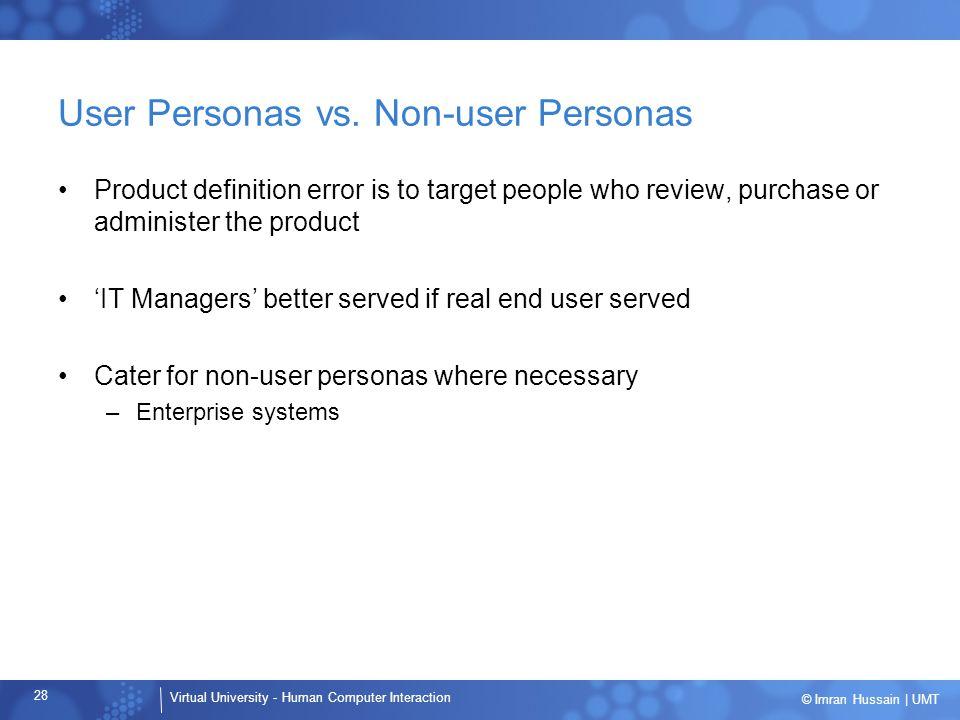 User Personas vs. Non-user Personas