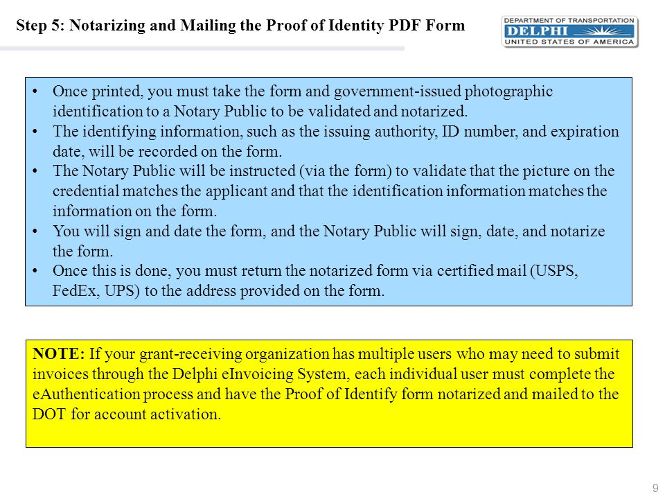 Step 5: Notarizing and Mailing the Proof of Identity PDF Form