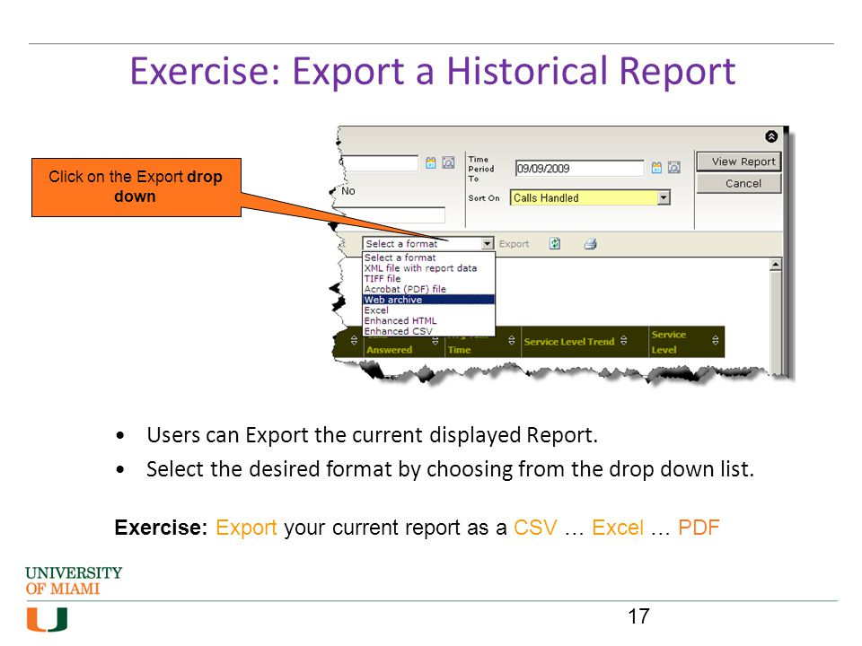 Exercise: Export a Historical Report