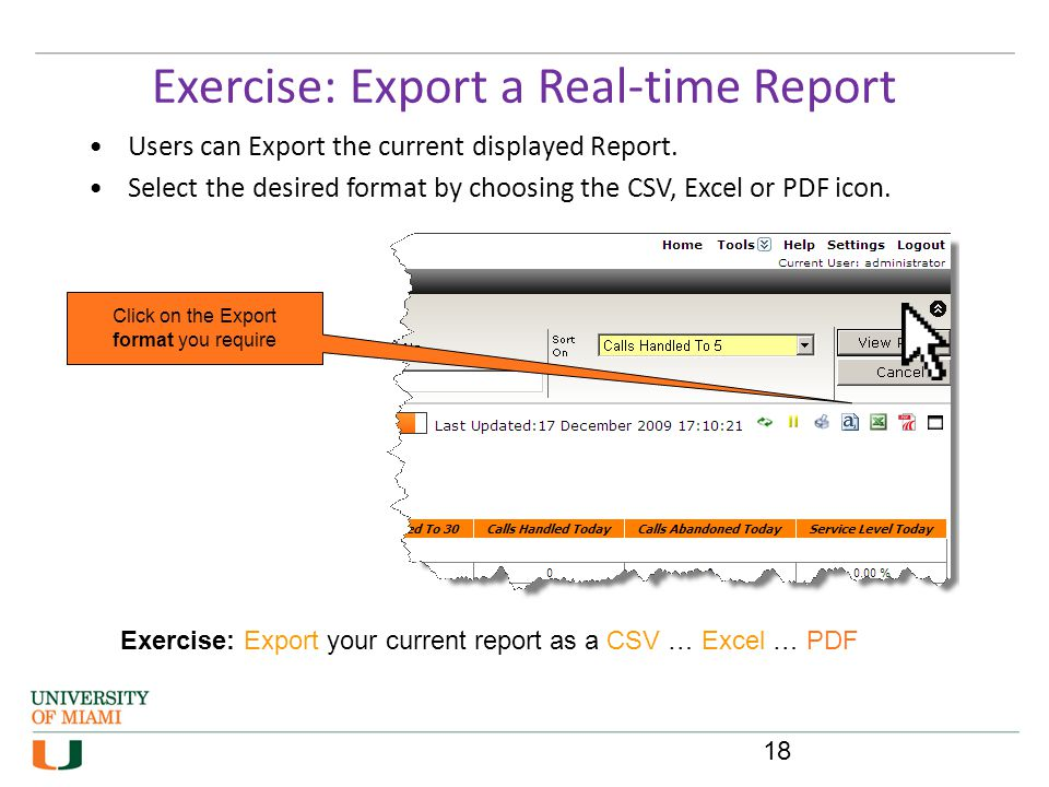 Exercise: Export a Real-time Report