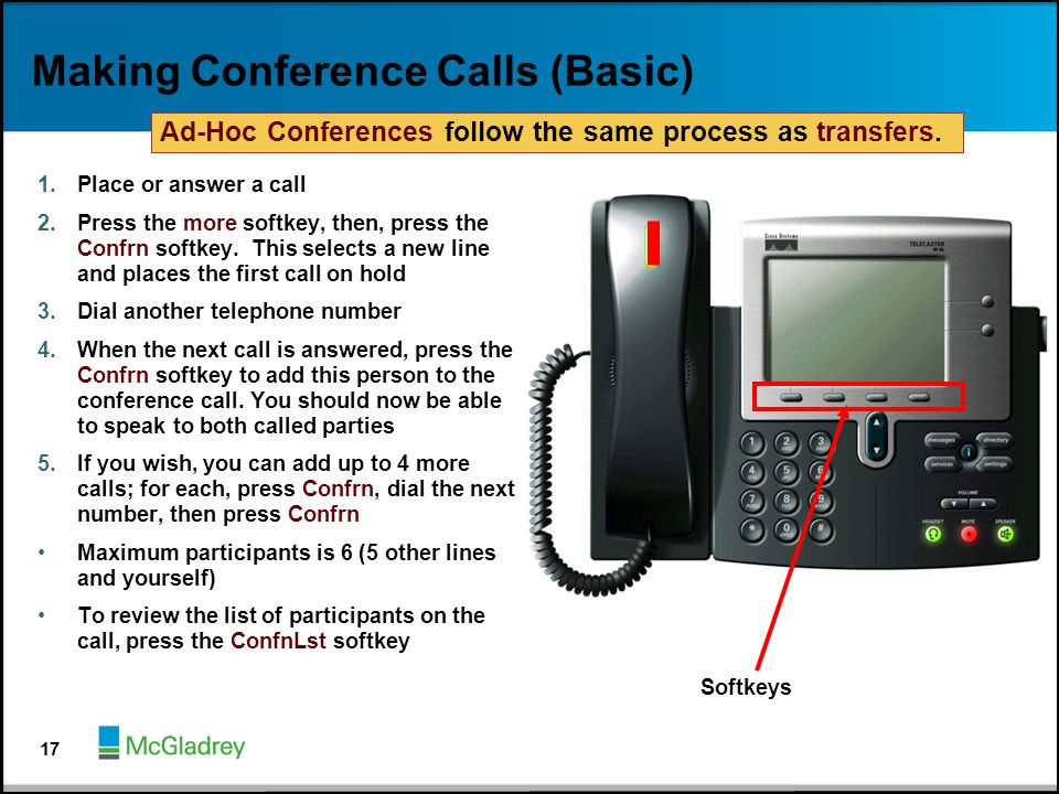 Making Conference Calls (Basic)