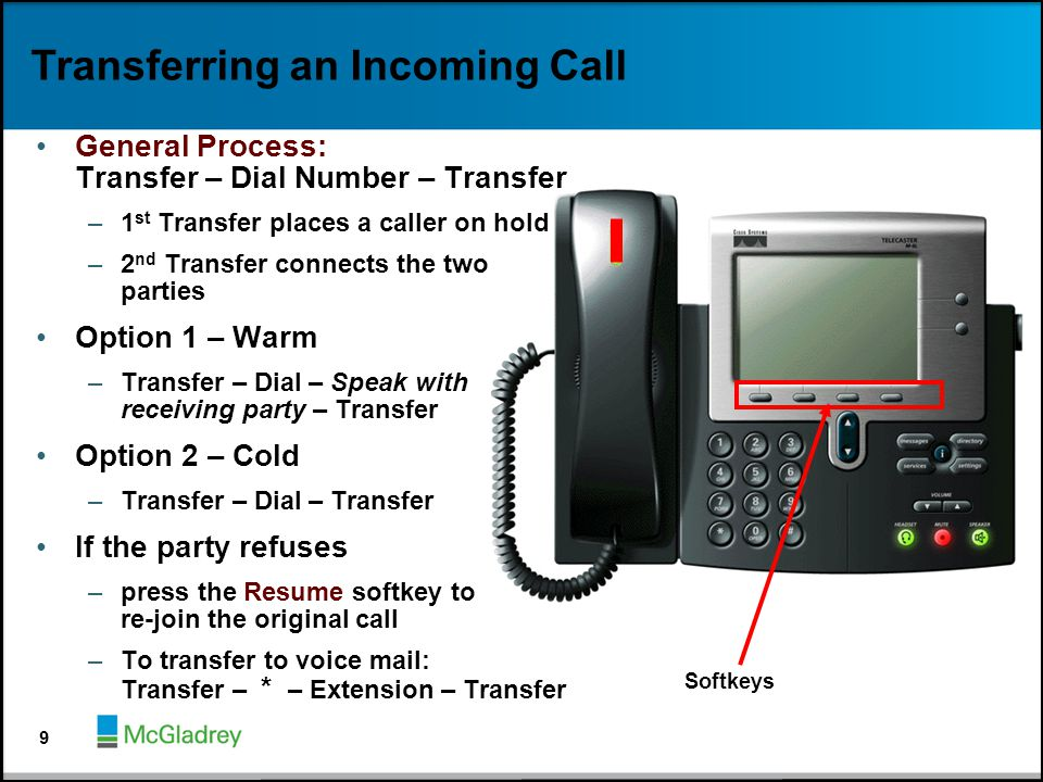 Transferring an Incoming Call