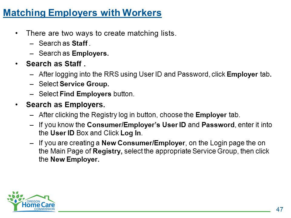 Matching Employers with Workers