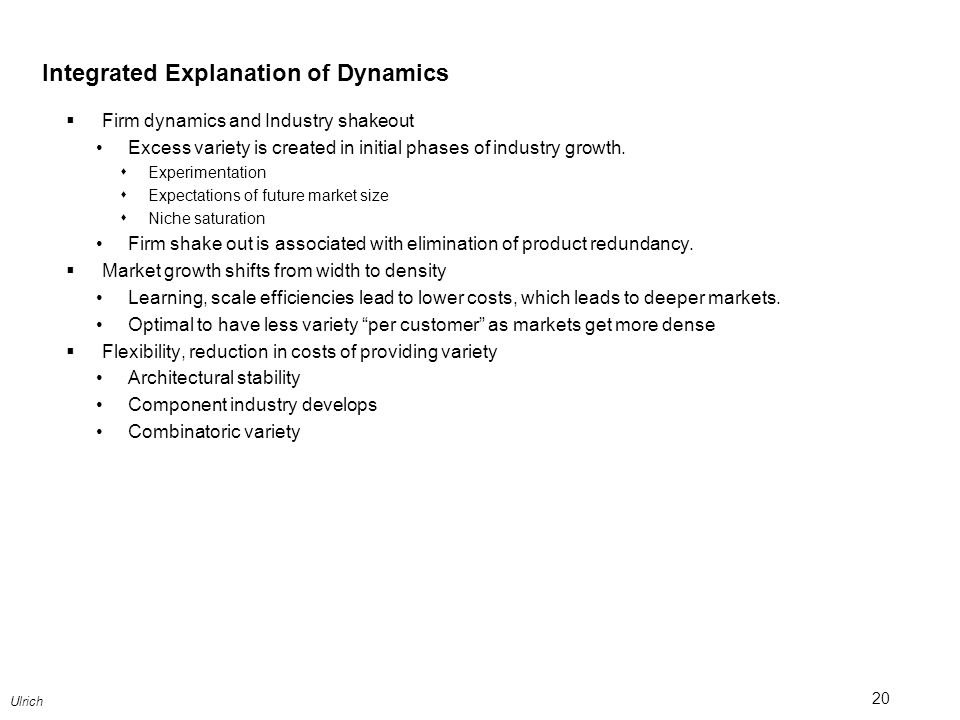 Integrated Explanation of Dynamics