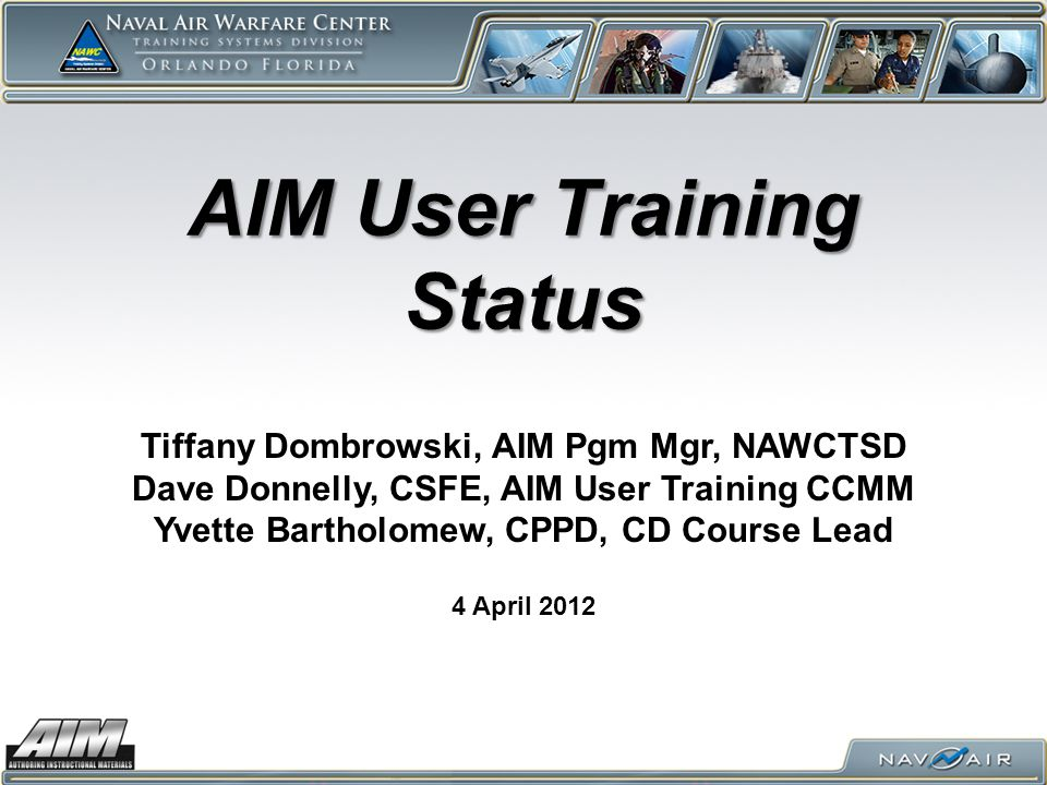 AIM User Training Status