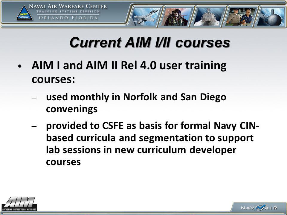 Current AIM I/II courses