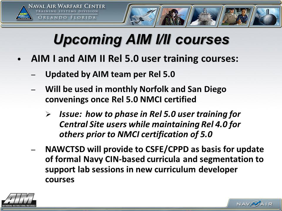 Upcoming AIM I/II courses