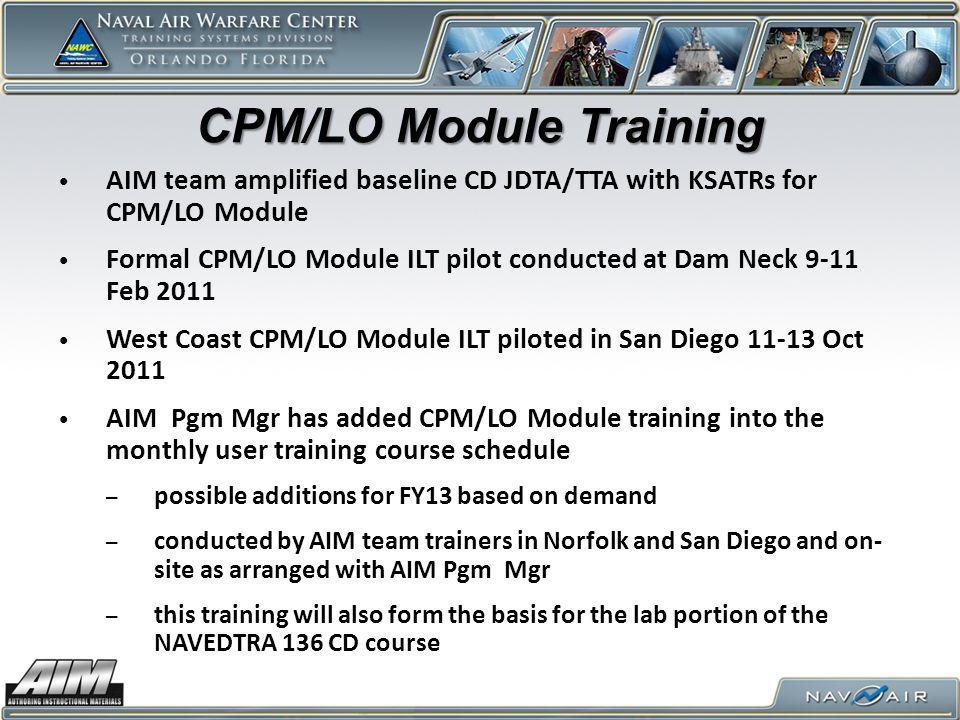 CPM/LO Module Training