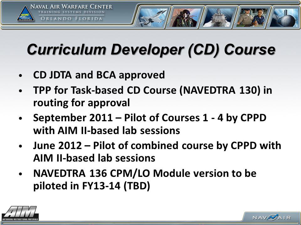 Curriculum Developer (CD) Course