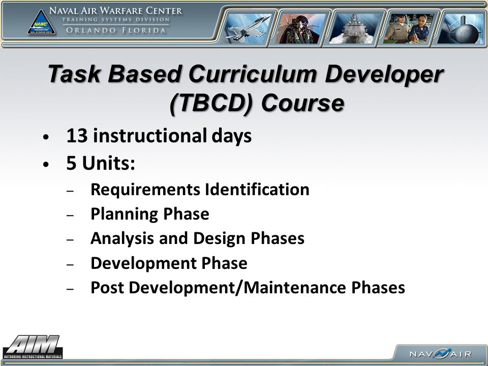 Task Based Curriculum Developer (TBCD) Course