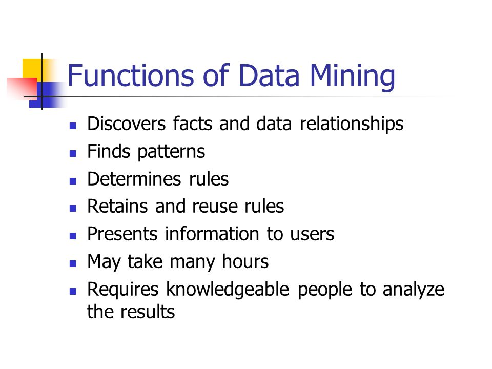 Functions of Data Mining
