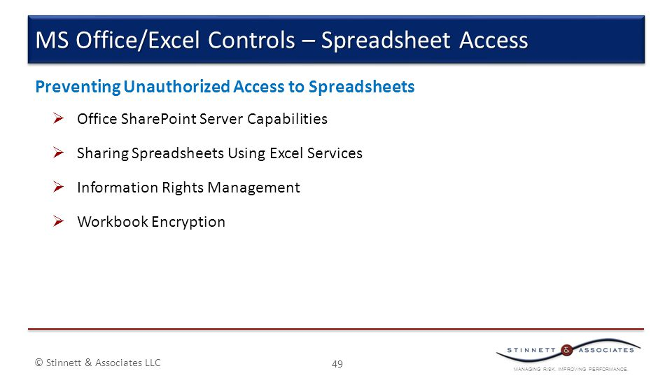 MS Office/Excel Controls – Spreadsheet Access