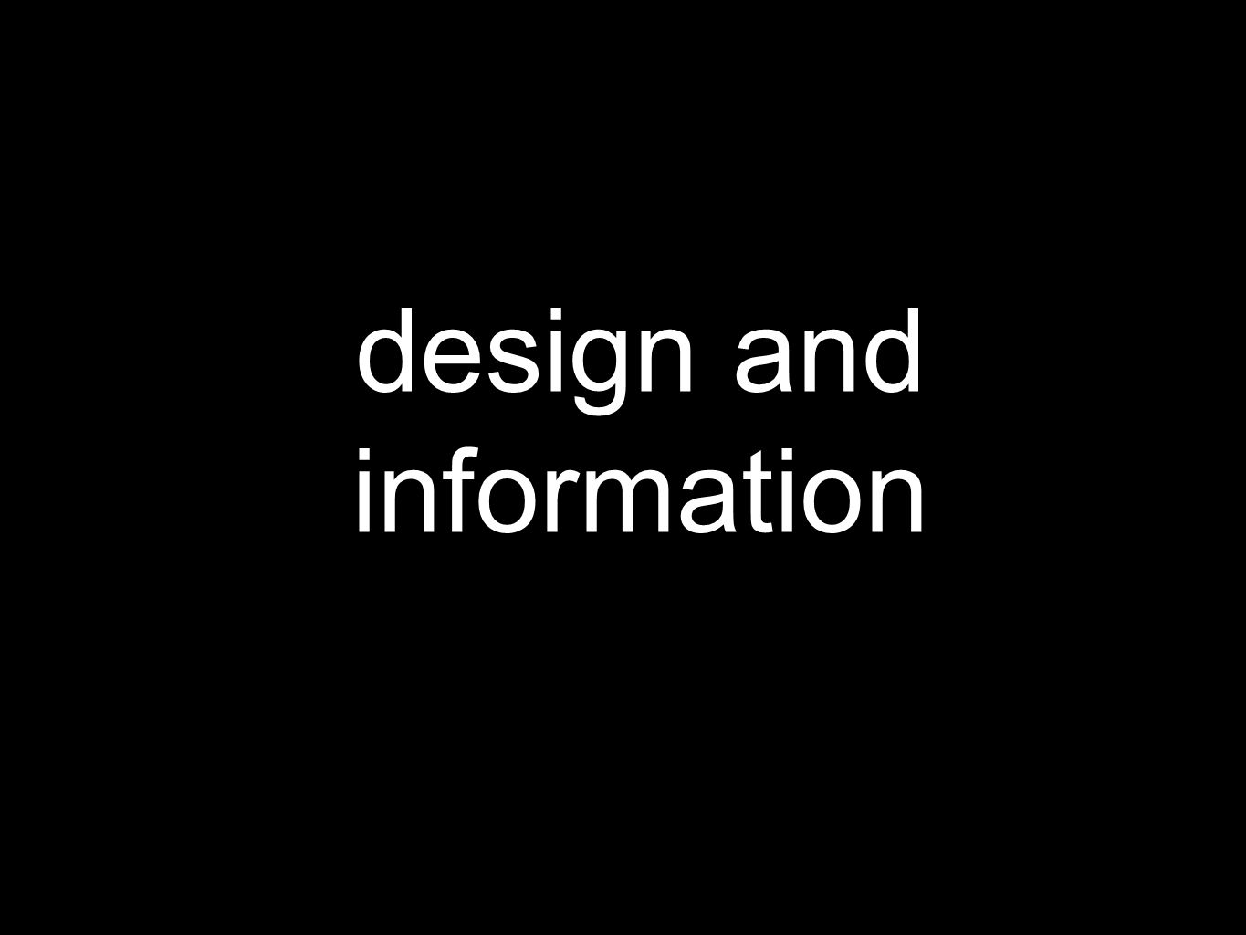design and information