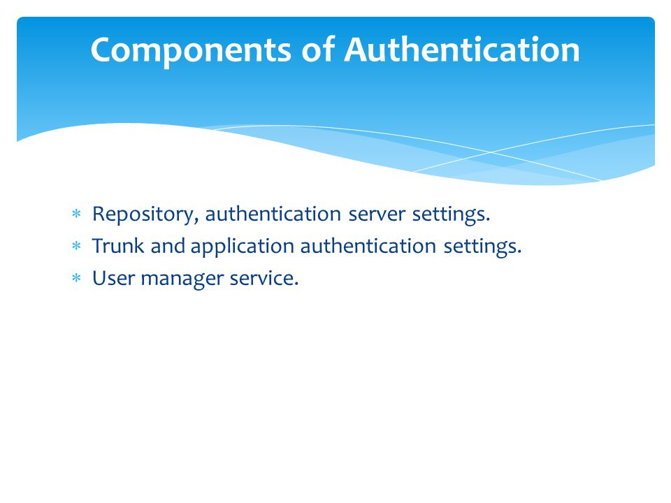 Components of Authentication