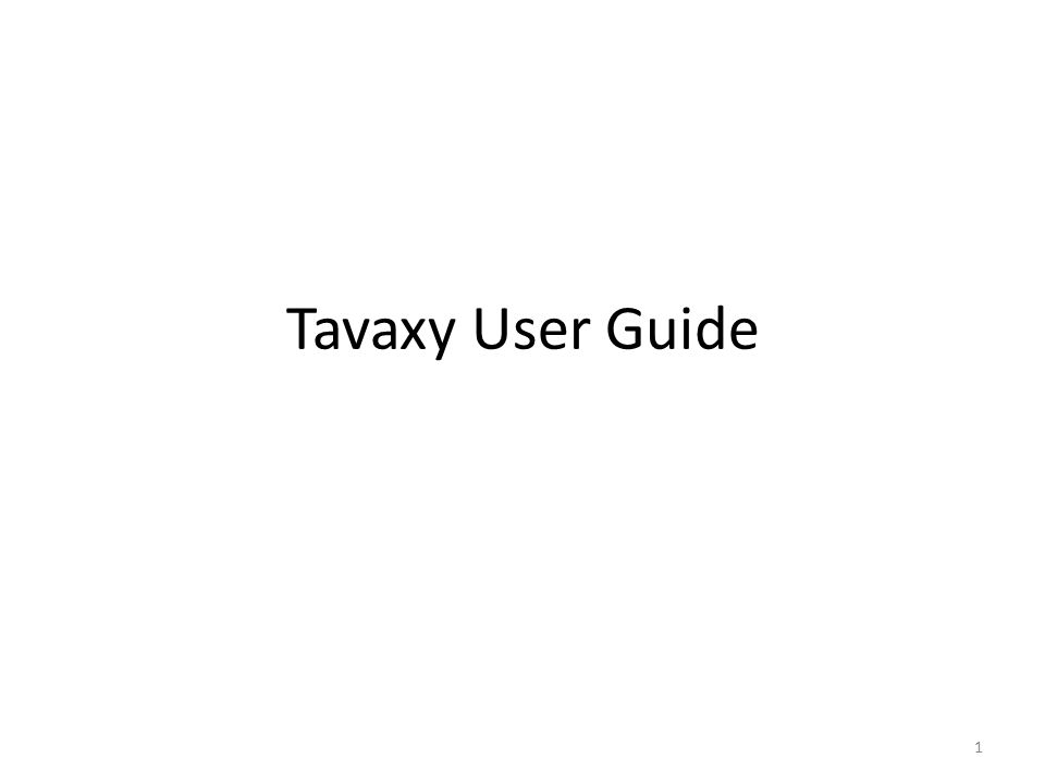Tavaxy User Guide