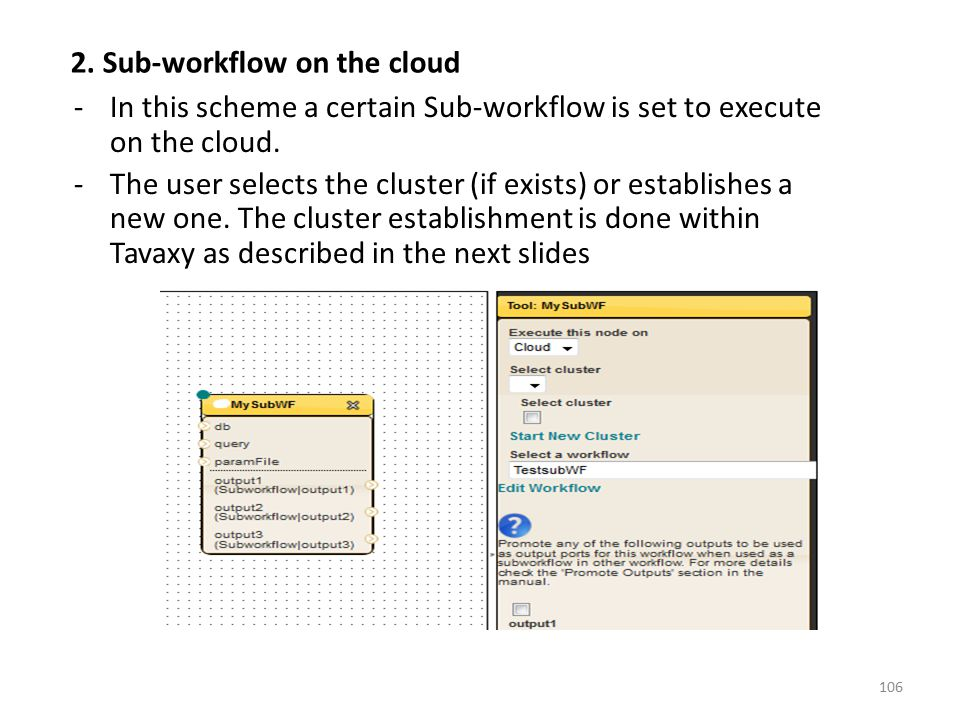 2. Sub-workflow on the cloud