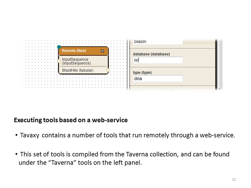 Executing tools based on a web-service