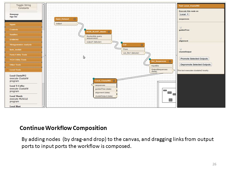 Continue Workflow Composition