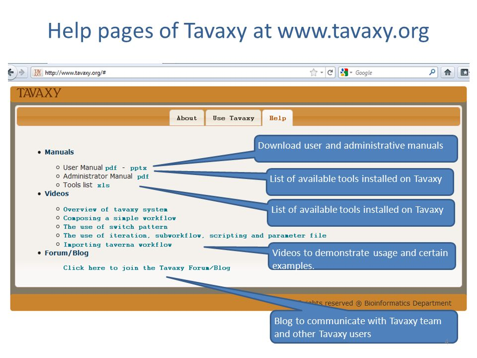 Help pages of Tavaxy at www.tavaxy.org