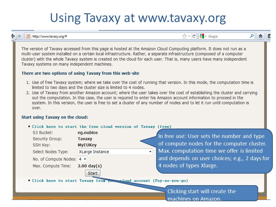 Using Tavaxy at www.tavaxy.org