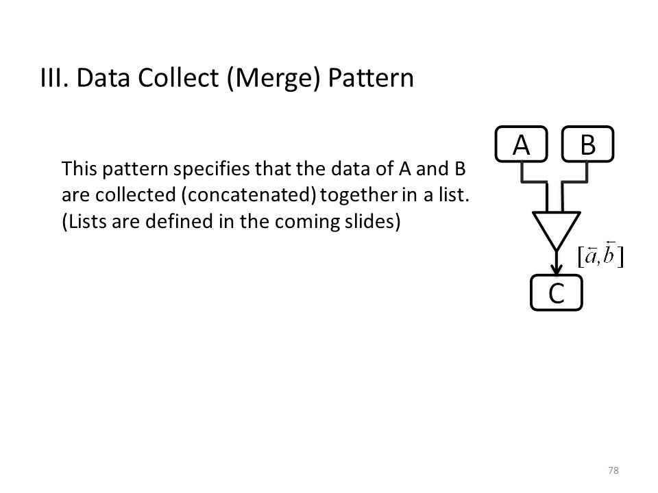 III. Data Collect (Merge) Pattern