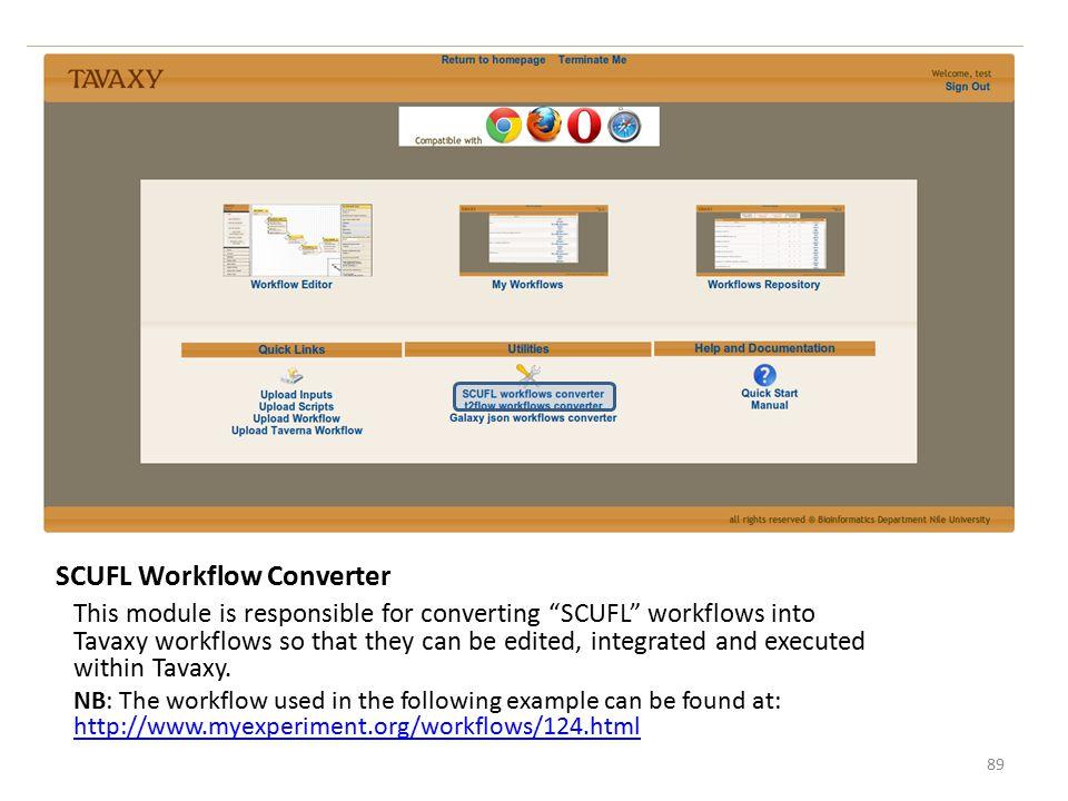 SCUFL Workflow Converter