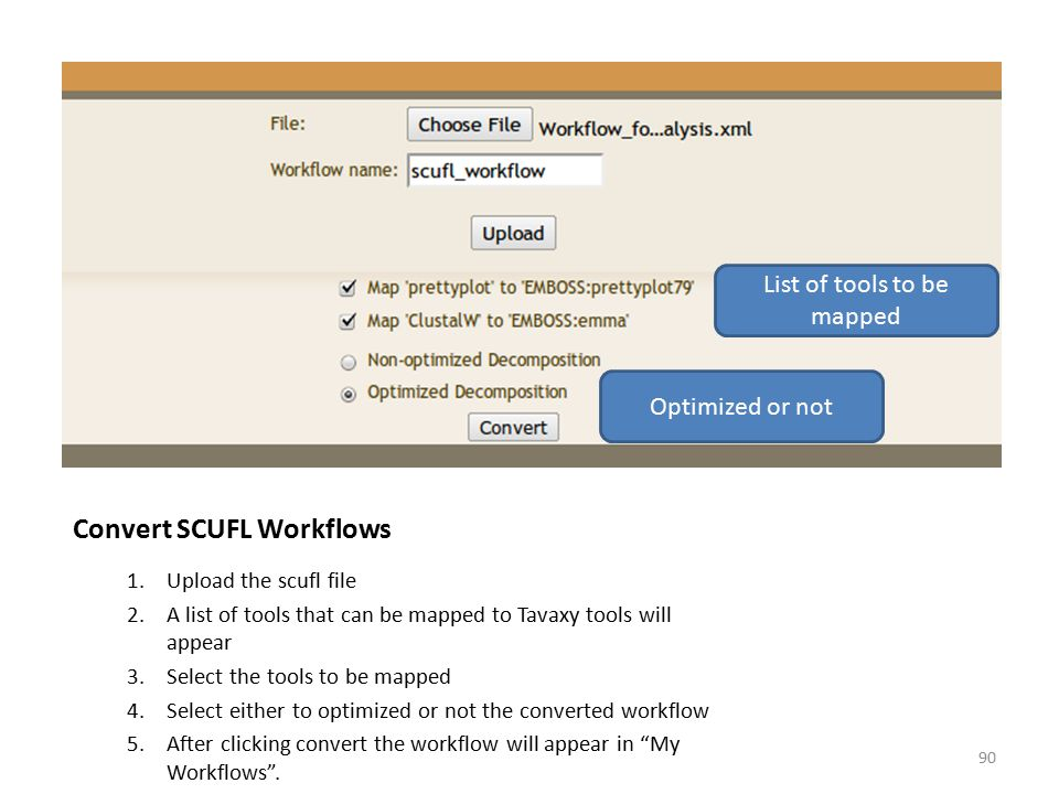 Convert SCUFL Workflows
