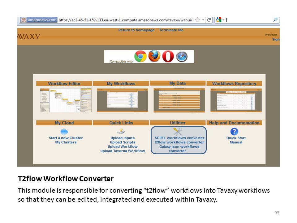T2flow Workflow Converter