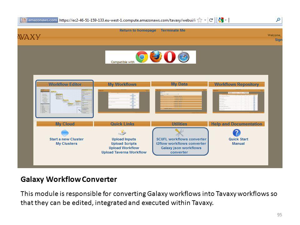 Galaxy Workflow Converter