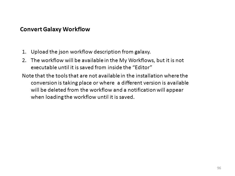 Convert Galaxy Workflow