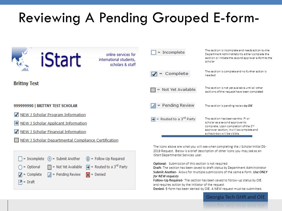 Reviewing A Pending Grouped E-form-