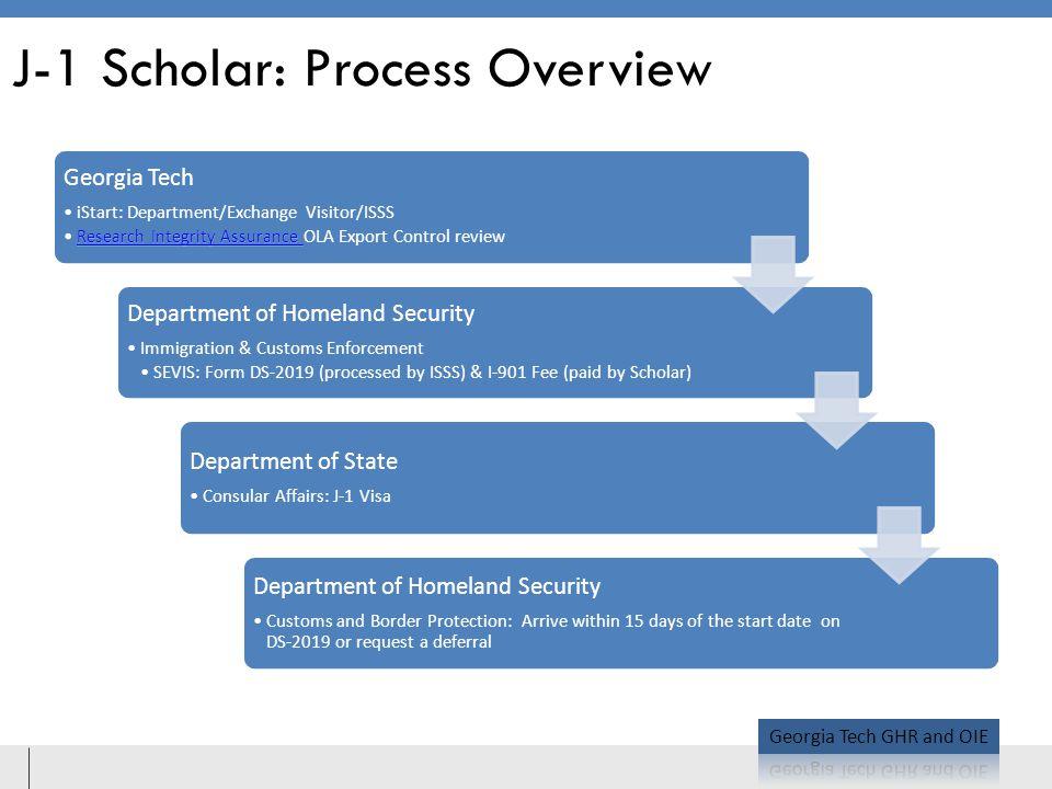 J-1 Scholar: Process Overview